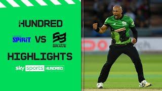 5 needed off final ball of tense game! | London Spirit v Southern Brave | The Hundred Highlights Men
