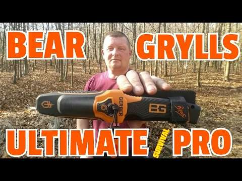✔BEAR GRYLLS ULTIMATE SURVIVAL PRO Knife Review (German) MesserReview