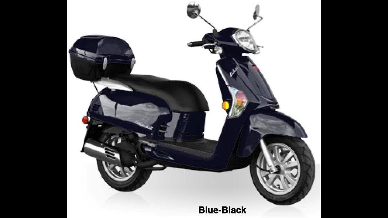 KYMCO LIKE 50 2T BLUE 49cc Scooter - YouTube