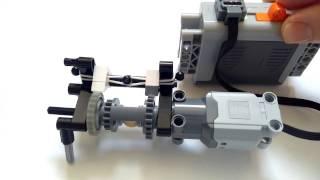 Lego convertir un moteur en deux fonctions