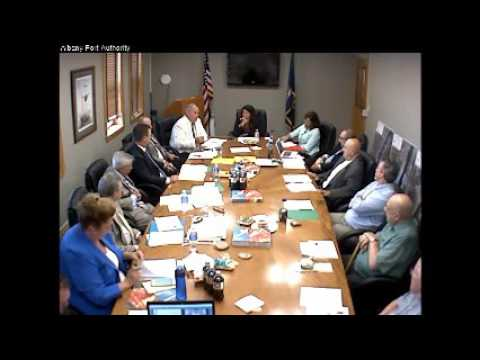 July 27, 2016  Port of Albany Board Meeting