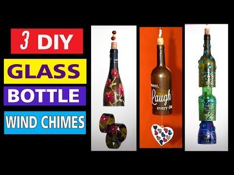 DIY Wine bottle Wind Chimes /using Creator's bottle cutter