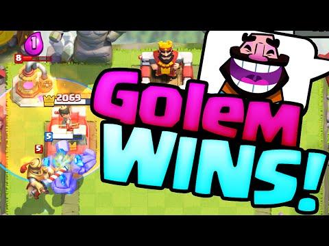 Clash Royale Strategy ♦ GOLEM WINS! ♦