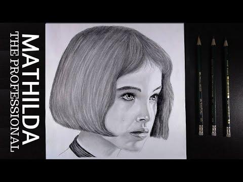 Speed drawing of Mathilda from Leon [ Natalie Portman ] .timelapse