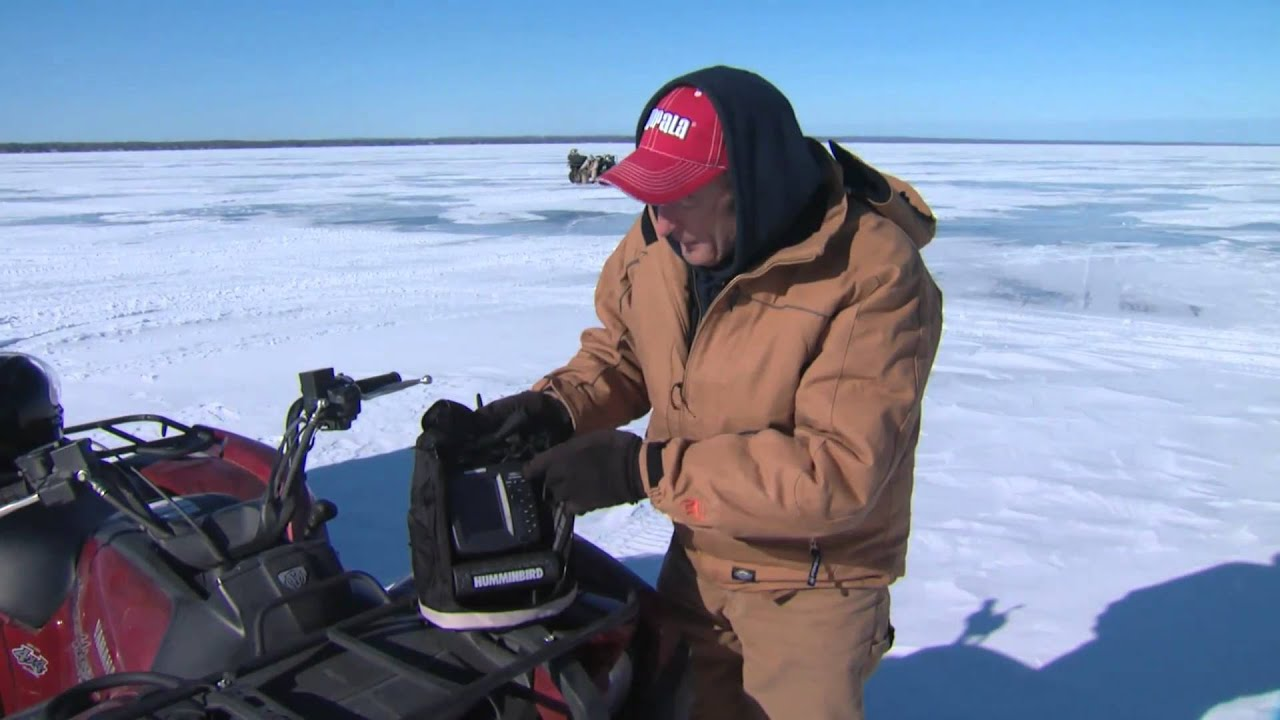 How to use sonars and flashers for ice fishing youtube for Ice fishing flasher