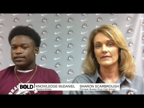 Bold Life: Knowledge McDaniel, Football Player at Braden River High School - FULL INTERVIEW