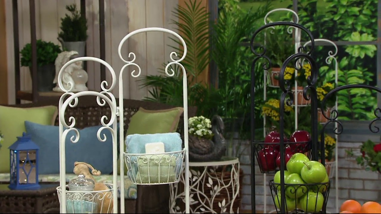 Indoor/Outdoor 6 Basket Wrought Iron Planter By Valerie On QVC
