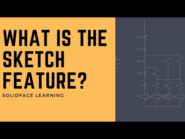 Learn how to use 3D Modeling Software - 28 - What is the sketch feature?