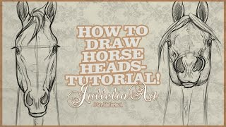 Download lagu How To Draw Horse Heads From The Front - Tutorial!