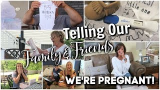 TELLING OUR FAMILY & FRIENDS THAT WE'RE PREGNANT! (Reaction Compilation)