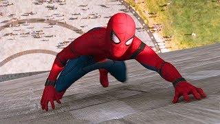 Человек-паук спасает друзей из лифта Монумента Вашингтона / Человек-паук: Возвращение домой (2017)