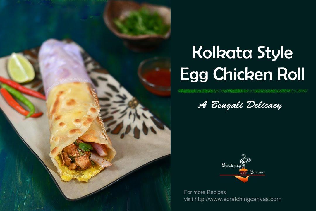 Kolkata style chicken kati kathi roll youtube forumfinder Image collections