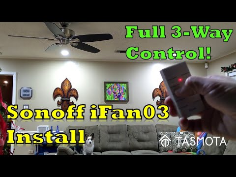 Sonoff IFan03 Install With Complete Fan Speed Control