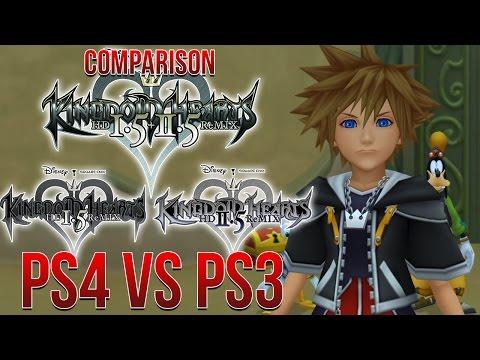 Kingdom Hearts 1.5+2.5 PS4 VS PS3 Comparison