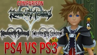Kingdom Hearts 1.5+2.5 PS4 VS PS3 Comparison