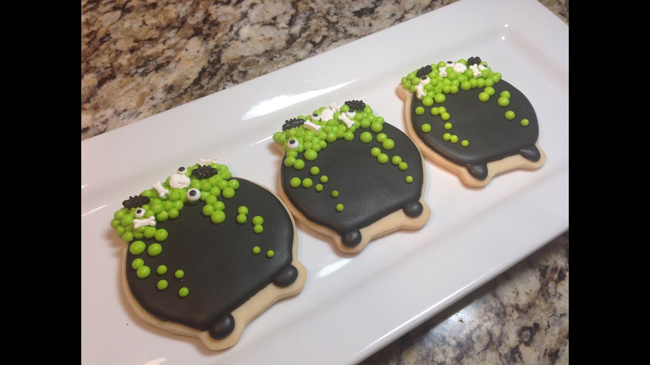 Halloween Cauldron Witches Pot Sugar Cookies (How To ...