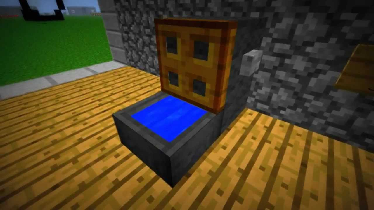 How to Minecraft WCToiletteKlo mit Splung Gebaut von