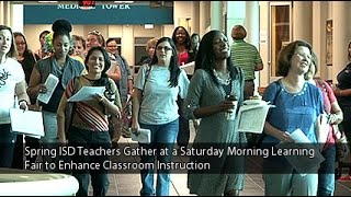 Spring ISD Teachers Gather at a Saturday Morning Learning Fair to Enhance Classroom Instruction