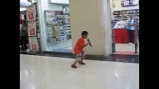 child singing in sm mall davao