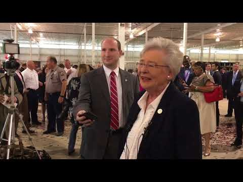 What was Kay Ivey doing during the gubernatorial debate?