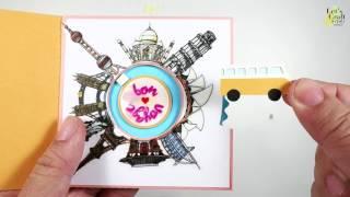 立體環遊世界卡片材料組合包教學│ 手作吧! 材料商店