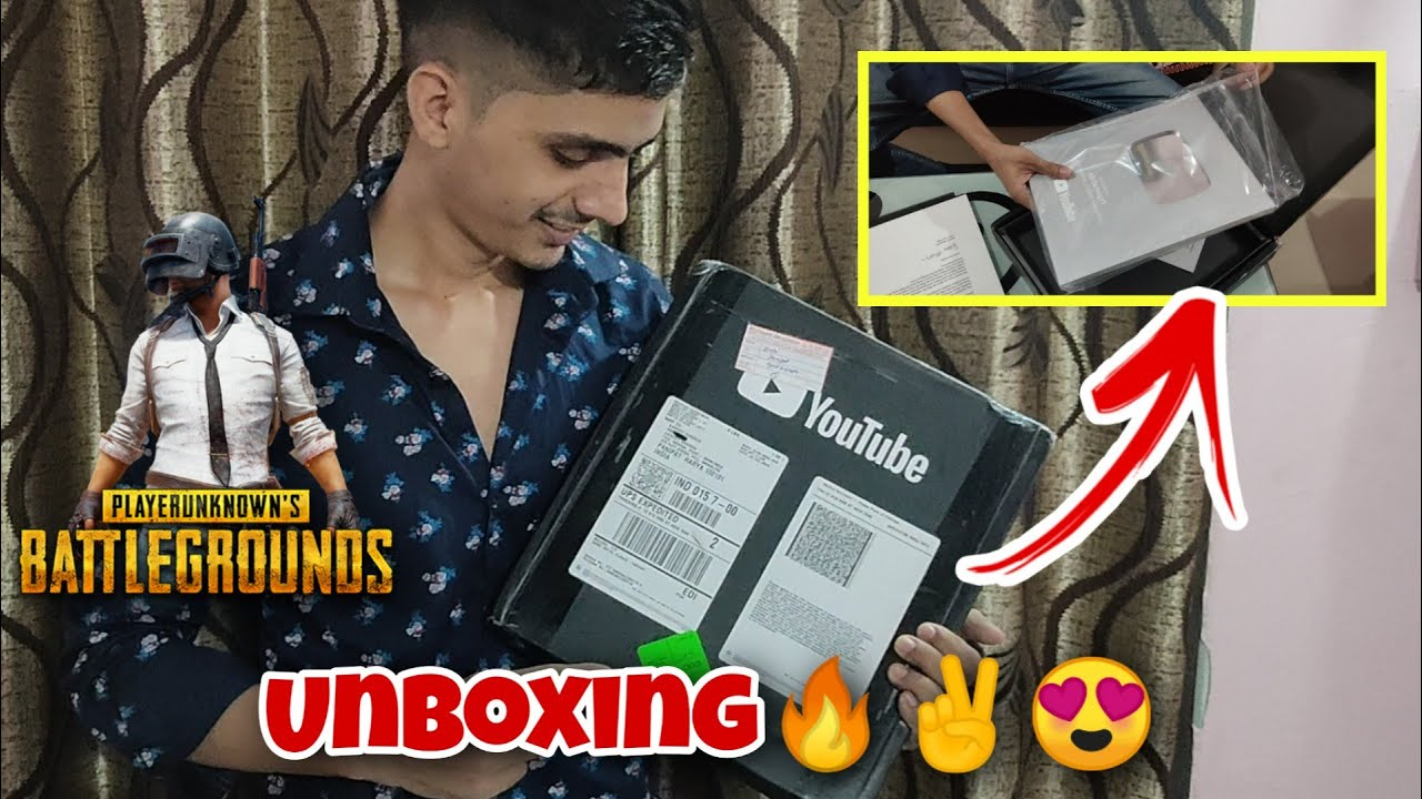 Finally Silver Play Button Unboxing AD GamingYT   To Kaise Ho Mere Pubg Wale Bhaiyo 🔥