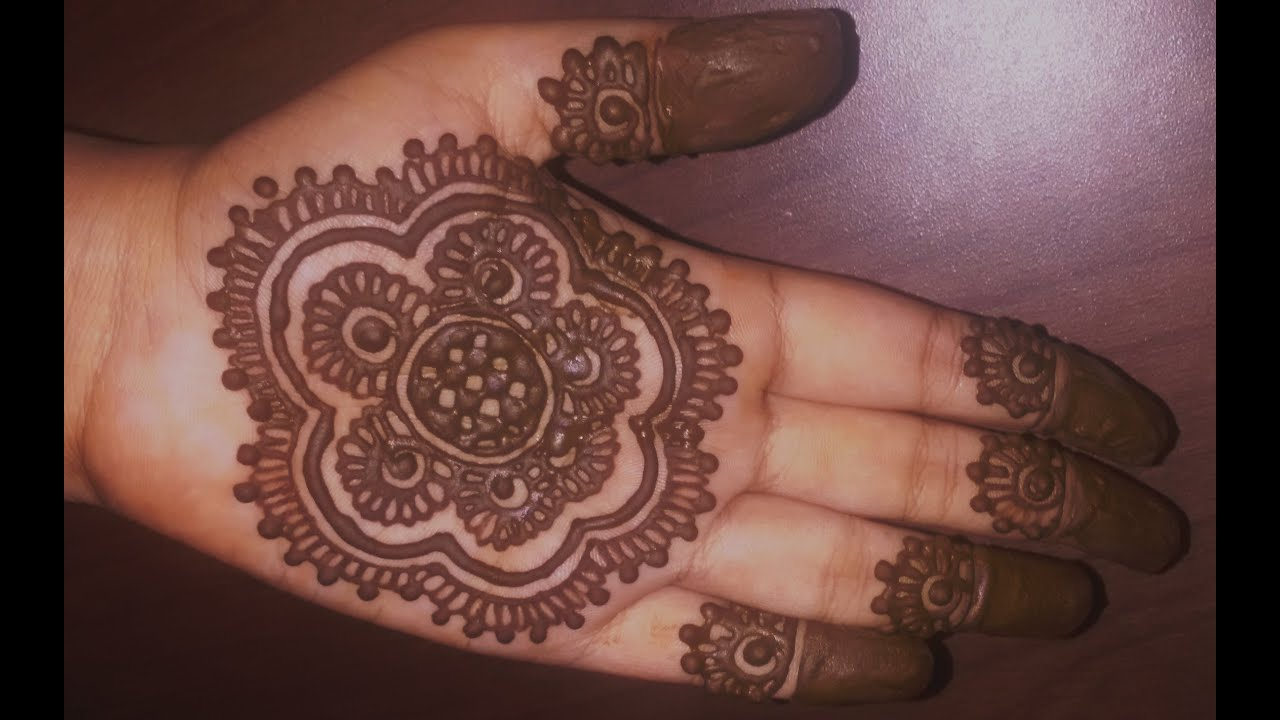 Mehndi Designs For Hands Simple : Easy simple mehndi designs for hands matroj youtube