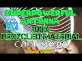 ANTENNA HDTV MADE AT HOME 100% Waste Material // Antena HD Casera costo $ 0.00