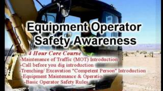Equipment operator safety awareness Course