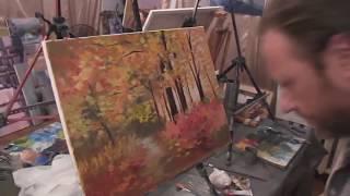 Осенний пейзаж  Приемы написания художник Игорь Сахаров