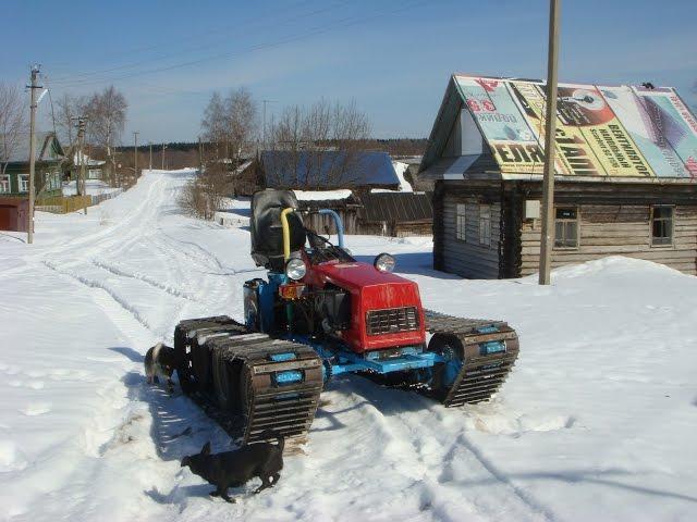 ??????? ???? ????????  ???-132. Upgrading mini tractor MTZ-132.