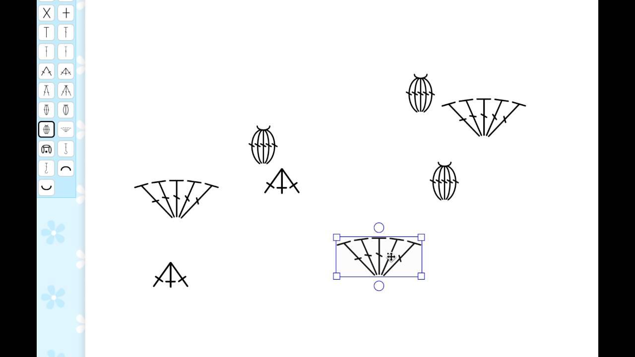 Stitch fiddle move symbols in a freeform crochet chart youtube stitch fiddle move symbols in a freeform crochet chart ccuart Image collections