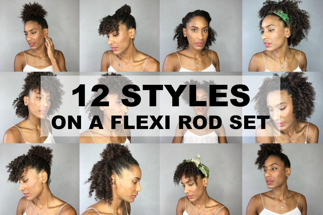 12 Easy And Quick Hairstyles On A Flexi Rod Set Natural Afro Kinky Hair