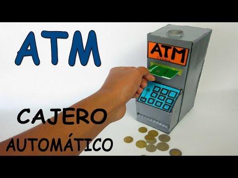 Como Hacer Un Cajero Automático Casero De Cartón-Banco Para Niños ATM Juguete Máquina