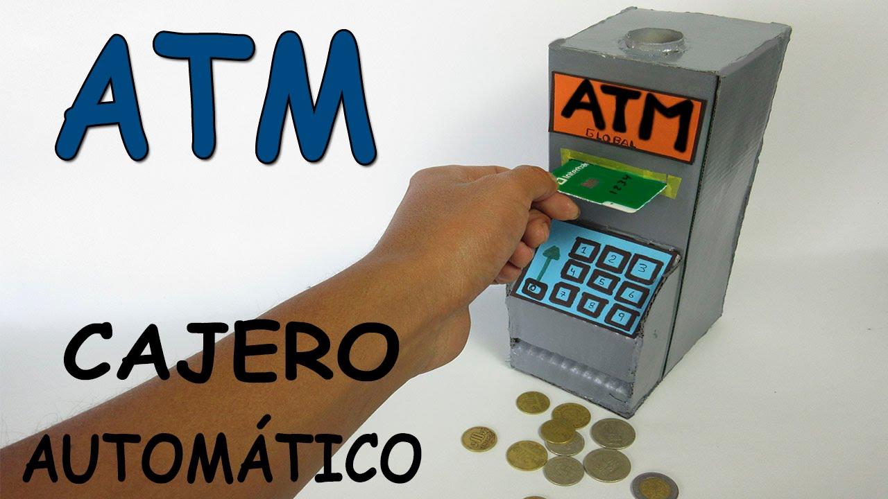 Como hacer un cajero autom tico casero de cart n banco for Como se abre un cajero automatico