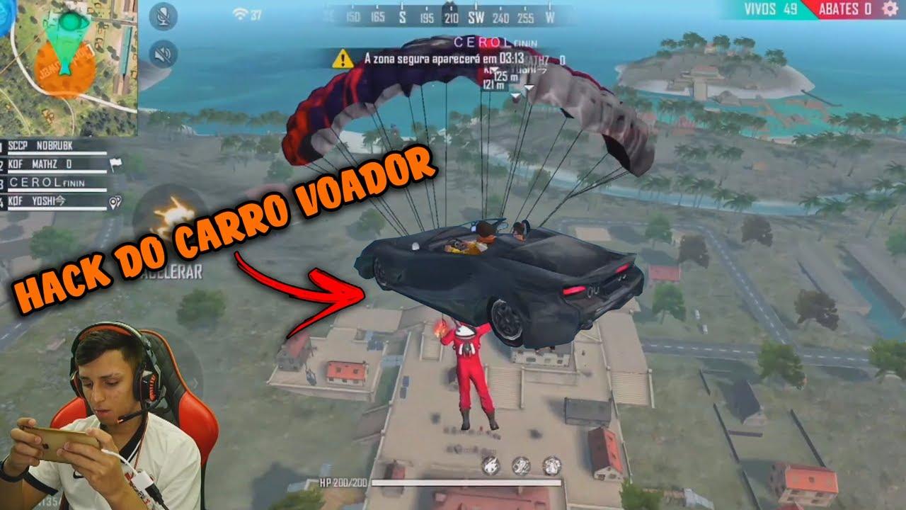 NOBRU MORRE PRA HACK DO CARRO VOADOR AO VIVO!!