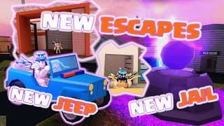 NEW JAIL / JEEP / ESCAPES - ROBLOX JAILBREAK