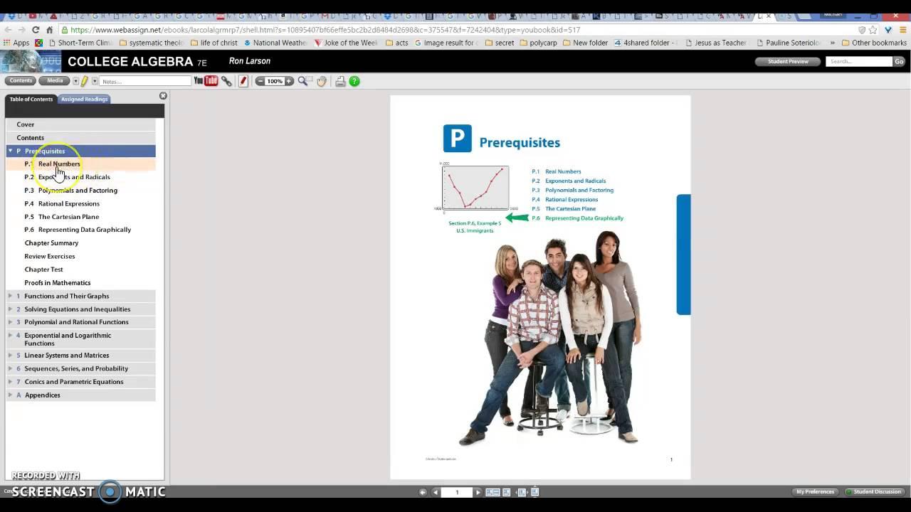 WebAssign College Algebra tutorial