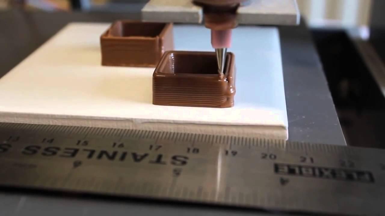 Impression 3D alimentaire de chocolat, ADN-nutrition.fr