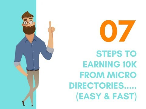 7 Steps To Your First Profitable Directory (Earn 10K Per Site and Scale!)