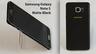 How To: Samsung Note 5 Matte Black (1piece)