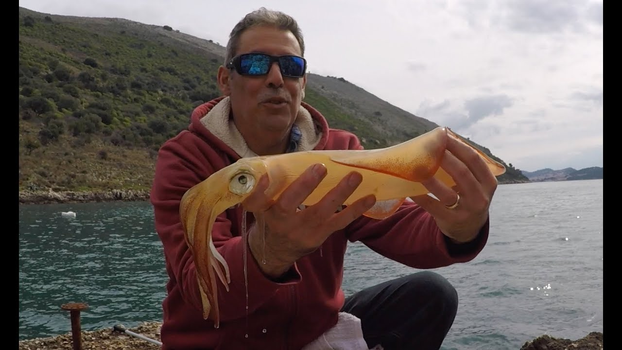 Calamari fishing squid fishing greece youtube for Elias v fishing