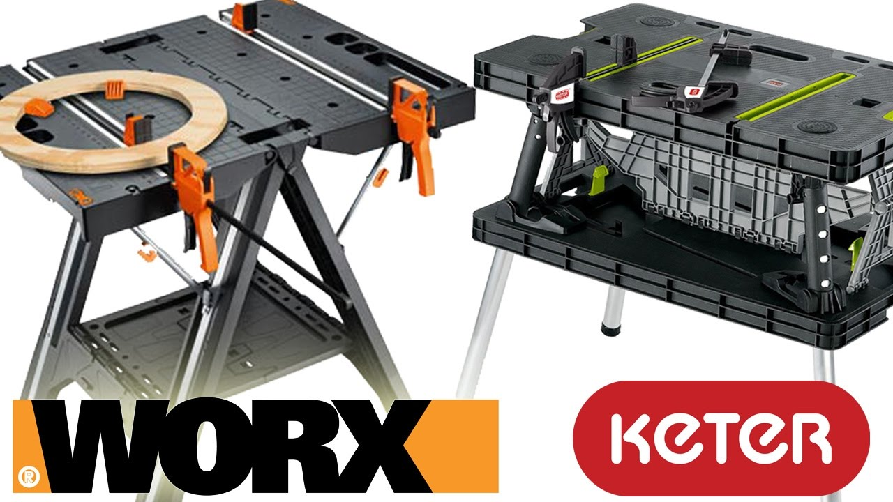 Worx Pegasus Folding Work Table Vs Keter  Review And Demo