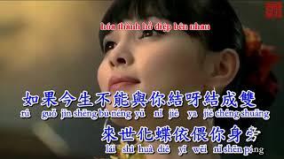Lưu Lạc Chân Trời [Karaoke] Lời Việt Song Ngữ