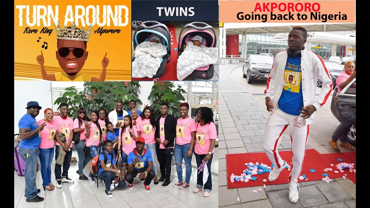 AKPORORO , TWINS AND FAMILY  DEPART FROM BWI AMERICA TO NIGERIA