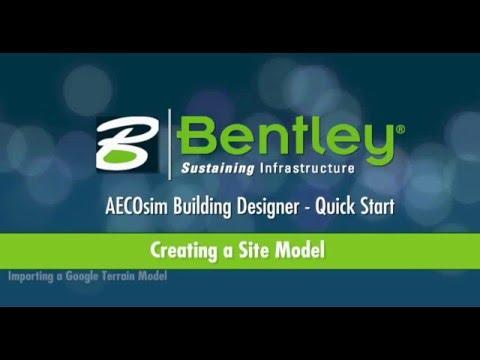 AECOsim Building Designer   A04   Creating a Site Model