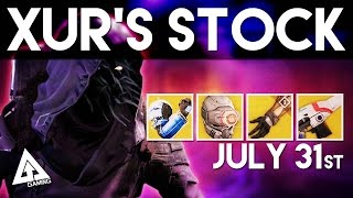 Destiny Xur Location - Exotic Armor and Weapons Breakdown | Xur July 31st