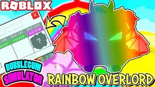 Claiming My Own *RAINBOW OVERLORD* in Bubblegum Simulator (Roblox) - Rainbow Land Rewards Prizes