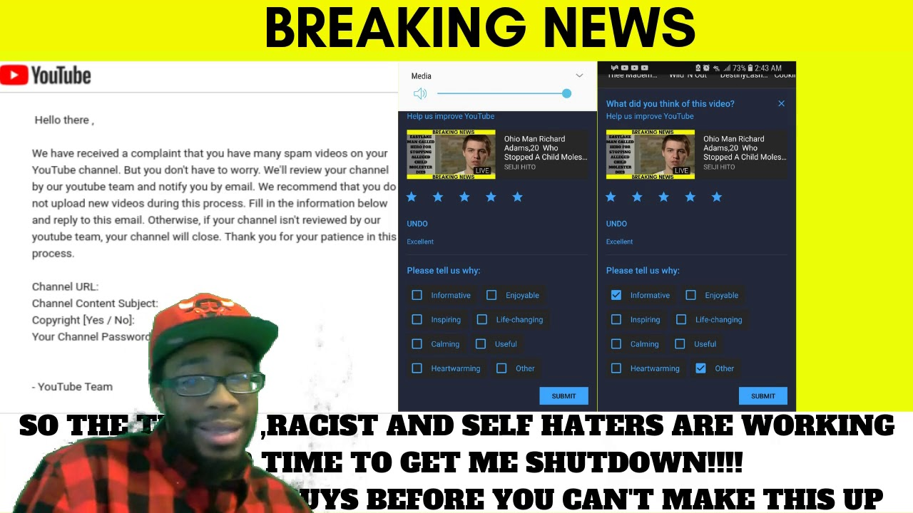 Youtube Trying To Shut A Brotha Down!?