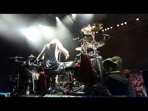 White Death Sabaton LIVE HD - Hamburg 14th February 2015 - Hannes Van Dahl [drum cam]
